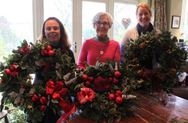 Christmas Wreaths (evening workshop)-3186