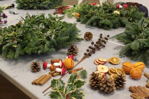 Christmas Wreaths (evening workshop)-3193